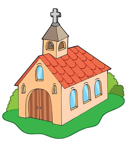 European style church - vector illustration. Illustration