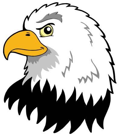 cartoon eagle: American eagles head - vector illustration.