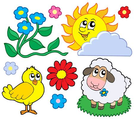 Spring collection 1 - vector illustration. Vector