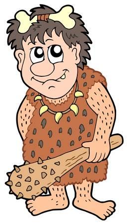 Caricatura hombre prehistórico - ilustración vectorial. Foto de archivo - 4458905