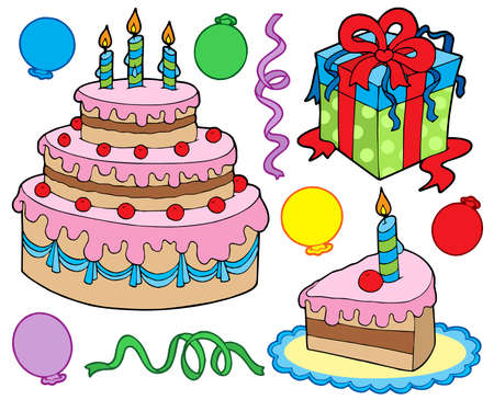 Birthday party collection - vector illustration. Stock Vector - 4534682