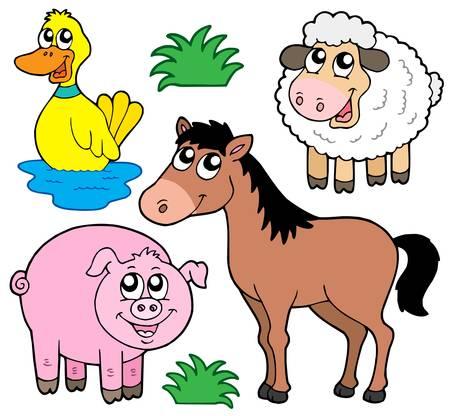 mammal: Farm animals collection 5 - vector illustration.
