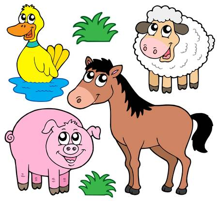 Farm animals collection 5 - vector illustration.