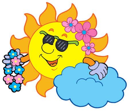 Hawaiian sun on white background - vector illustration. Stock Vector - 4609731