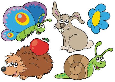salyangoz: Small animals collection 7 - vector illustration.