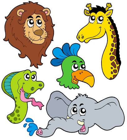 ZOO animals collection 6 - vector illustration. Illustration