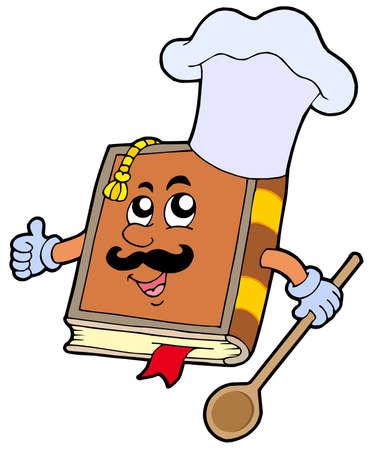 Cartoon receptenboek - vector illustration. Vector Illustratie