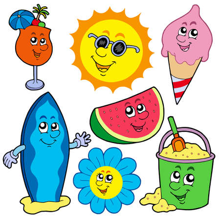 Summer pictures collection - vector illustration. Vector