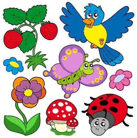 Frühlingsferien Art Collection - Vektor-Illustration.