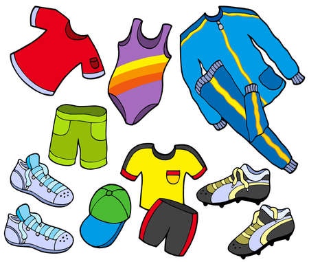 swims: Sport clothes collection - vector illustration.
