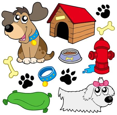 Dog pictures collection - vector illustration. Vector