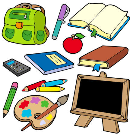 teaching crayons: Ritorno a scuola raccolta 1 - illustrazione vettoriale. Vettoriali