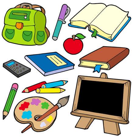 rekenmachine: Terug naar school verzameling 1 - vector illustration. Stock Illustratie