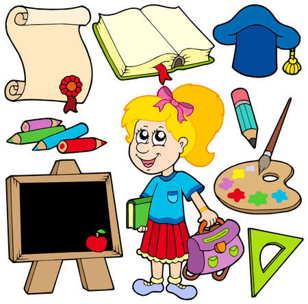 Back to school collection 2 - vector illustration. Stock Vector - 5192845