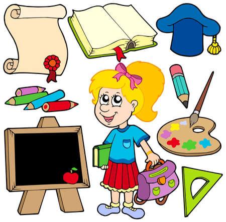 zaino: Ritorno a scuola raccolta 2 - illustrazione vettoriale. Vettoriali