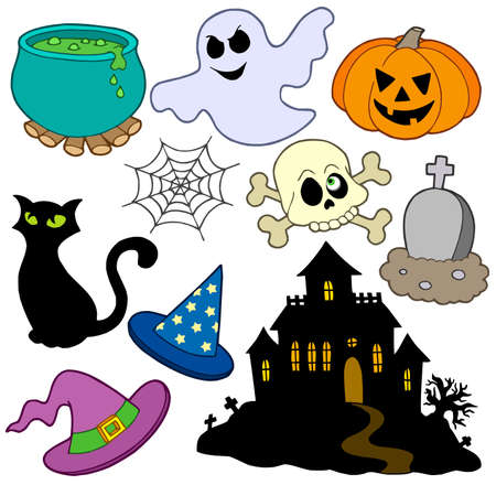 ghost: Various Halloween images 2 - vector illustration.