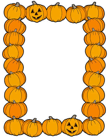 Frame from pumpkins - vector illustration. Vector