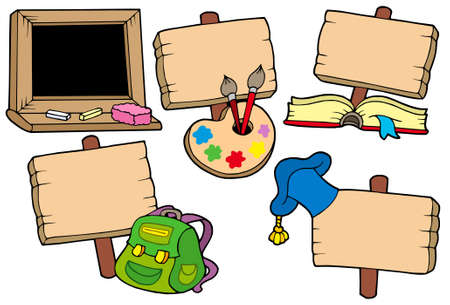 Signos Escuela colección - ilustración vectorial.