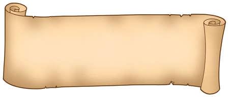 Old long banner - color illustration. illustration