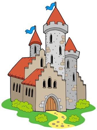 Ancient medieval castle - vector illustration. Vector