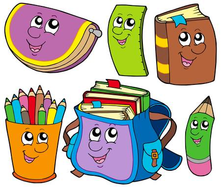 Back to school collection 5 - vector illustration.