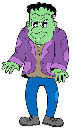 cartoon frankenstein: Cartoon Frankenstein on white background - vector illustration.