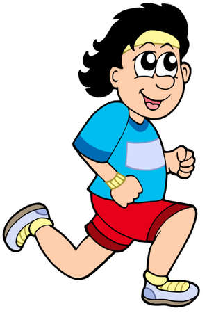athlete cartoon: Cartoon running man - vector illustration. Illustration