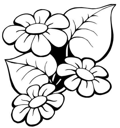Floral motief 1 op witte achtergrond - vectorillustratie.