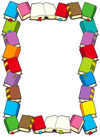 Frame from books - vector illustration. Ilustracja