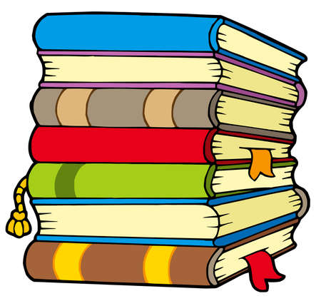 Pile of books - vector illustration.