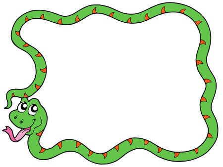 Snake frame 2 on white background - vector illustration. Vector