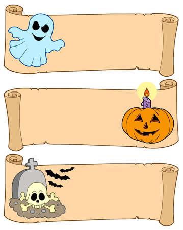 Halloween Banner Auflistung 1 - Vektor-Illustration.  Standard-Bild - 5450841