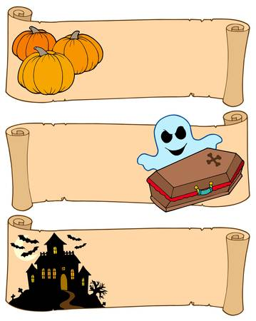 Halloween banners collection 2 - vector illustration. Vector