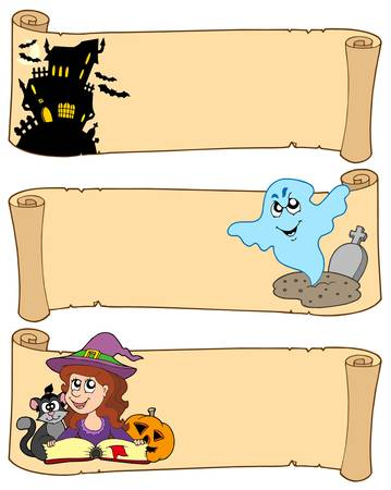 Halloween banners collection 3 - vector illustration. Vector