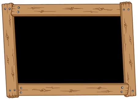 educative: Wooden blackboard on white background - vector illustration.