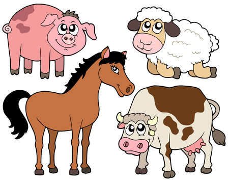 Country animals collection 2 - vector illustration. Vector