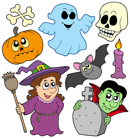 Halloween cartoons collection - vector illustration. Stock Vector - 5492790