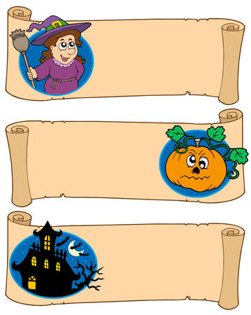 Halloween banners collection 5 - vector illustration. Vector
