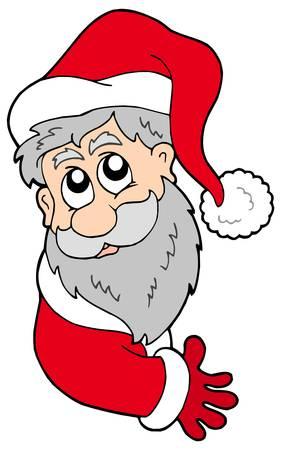 lurking: Lurking Santa Claus - vector illustration.