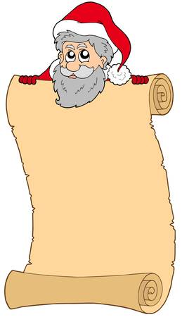 Parchment with Santa Claus - vector illustration. Vector