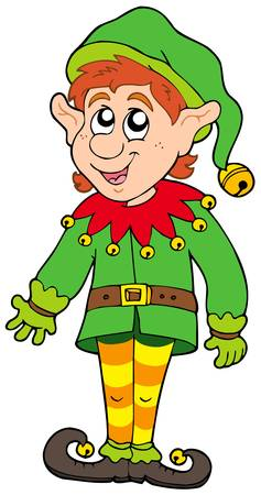 Cute Christmas elf - vector illustration. Vector