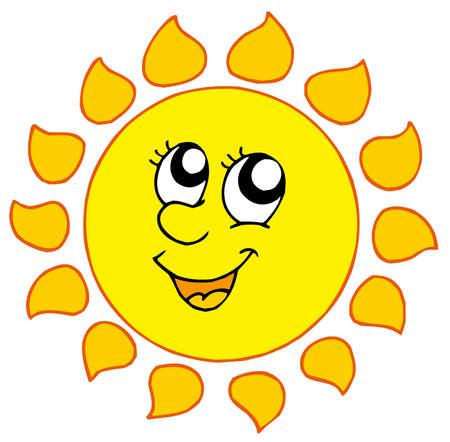 soleil souriant: Cartoon soleil souriant - illustration vectorielle.