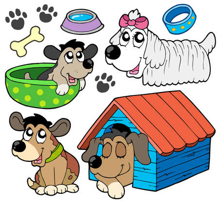 Cute dogs collection 2 - vector illustration. Vector