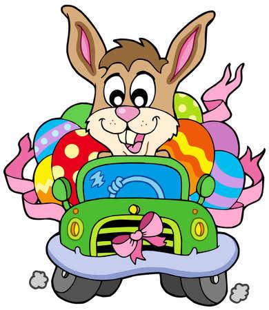Easter bunny Guida auto