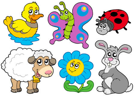 Spring animals collection Stock Vector - 6335524