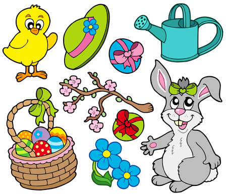 Spring collection 3 on white background Stock Vector - 6335522