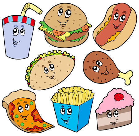 Fast food collection Stock Vector - 6579486