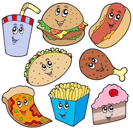 Fast voedsel-collectie  Vector Illustratie