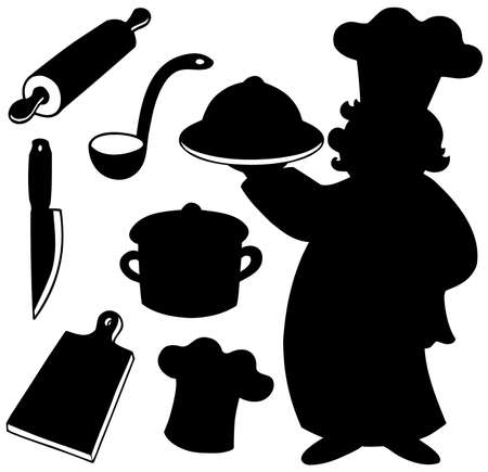 Chef silhouettes collection  Vector