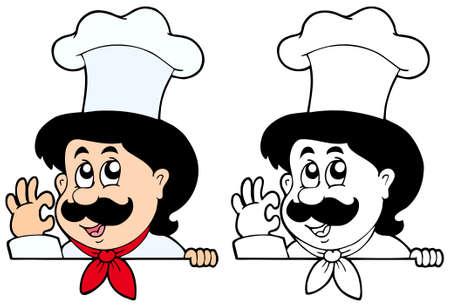lurking: Lurking cartoon chef  Illustration